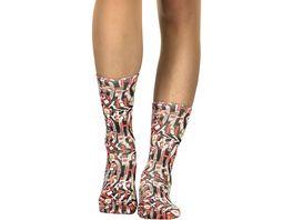 wigglesteps Damen Socken Leopard Ho Ho