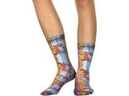 wigglesteps Damen Socken Berlin Wall