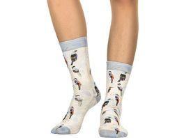 wigglesteps Damen Socken Colored Birds