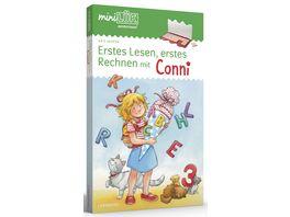 miniLUeK Sets Kasten Uebungsheft e Vorschule 1 Klasse Erstes Lesen erstes Rechnen mit Conni