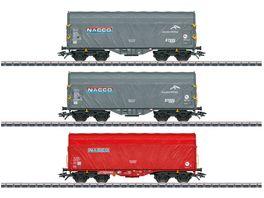 Maerklin 47224 H0 Modelleisenbahn Schiebeplanenwagen Set