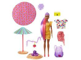 Barbie Color Reveal Schaumspass Erdbeere Puppe mit 25 Ueberraschungen