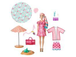 Barbie Color Reveal Schaumspass Wassermelone Puppe mit 25 Ueberraschungen