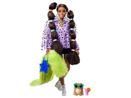 Barbie Extra Puppe mit Zoepfen Haargummis Anziehpuppe Modepuppe