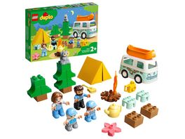 LEGO DUPLO 10946 Familienabenteuer mit Campingbus Spielzeugauto