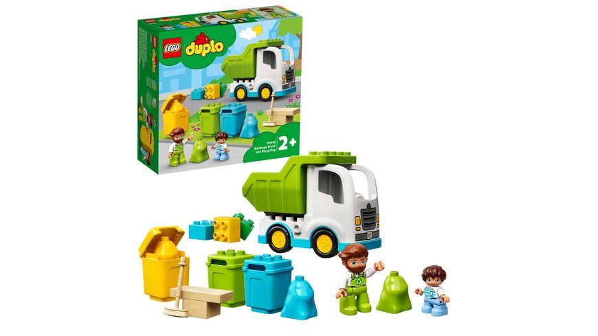 LEGO DUPLO 10945 Müllabfuhr und Wertstoffhof, Müllauto Spielzeug