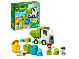 LEGO DUPLO 10945 Muellabfuhr und Wertstoffhof Muellauto Spielzeug
