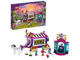LEGO Friends 41688 Magischer Wohnwagen Spielzeug mit Mini Puppen Pferd