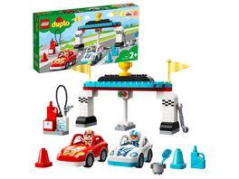 LEGO DUPLO 10947 Rennwagen Kleinkinder Spielzeug ab 2 Jahren