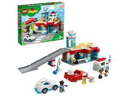 LEGO DUPLO 10948 Parkhaus mit Autowaschanlage Kleinkinder Spielzeug
