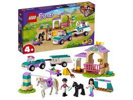 LEGO Friends 41441 Trainingskoppel und Pferdeanhaenger Pferde Spielzeug