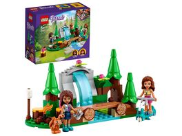 LEGO Friends 41677 Wasserfall im Wald Camping Spielzeug ab 5 Jahre