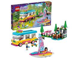 LEGO Friends 41681 Wohnmobil und Segelbootausflug Camping Spielzeug