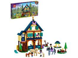 LEGO Friends 41683 Reiterhof im Wald Pferdestall Spielzeug mit Pferden