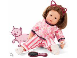 Goetz Maxy Muffin Stripe Vibes Babypuppe mit braunen Haaren und braunen Schlafaugen 46 cm