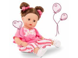 Goetz Muffin Stripe Vibes Babypuppe mit braunen Haaren und braunen Schlafaugen 33cm