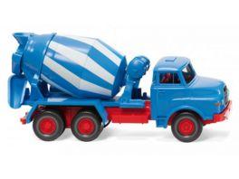 Wiking 68208 1 87 Betonmischer MAN blau weiss