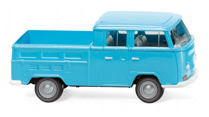 Wiking 31404  1:87 VW T2 Doppelkabine - eisblau
