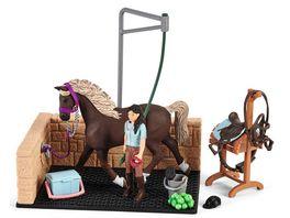 Schleich 42438 Horse Club Waschplatz mit Horse Club Emily Luna
