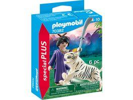 PLAYMOBIL 70382 Special Plus Asiakaempferin mit Tiger und Langsaebel