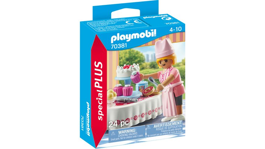 PLAYMOBIL 70381 - Special Plus - Candy Bar mit Konditorin und verschiedenen Köstlichkeiten
