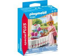 PLAYMOBIL 70381 Special Plus Candy Bar mit Konditorin und verschiedenen Koestlichkeiten