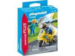 PLAYMOBIL 70380 Special Plus Jungs mit Racingbike und Zielfahne