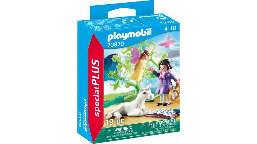PLAYMOBIL 70379 - Special Plus - Feenforscherin mit Einhornbaby