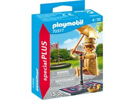 PLAYMOBIL 70377 Special Plus Strassenkuenstler im goldenen Kostuem