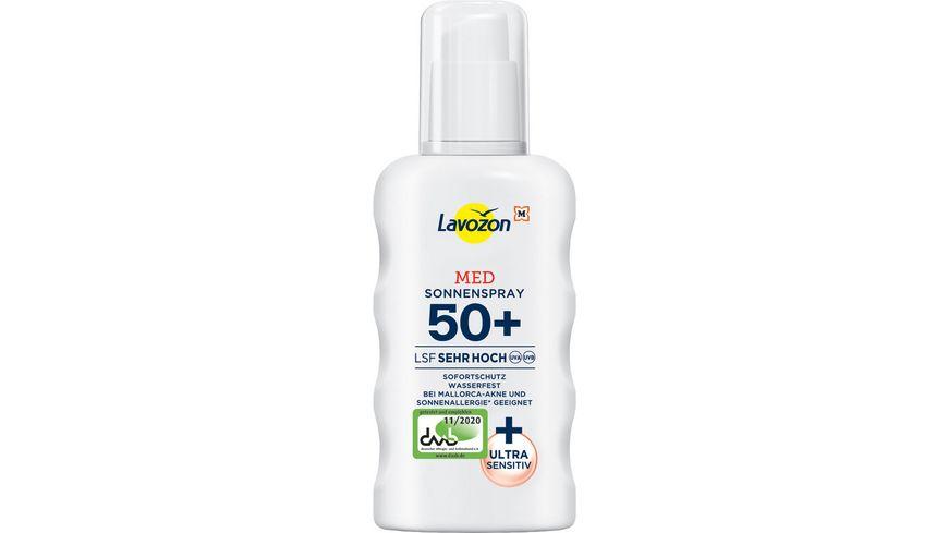 LAVOZON Sonnenspray MED LSF 50+ Octocrylenfrei