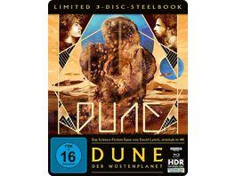Dune Der Wuestenplanet Steelbook Edition 4K Ultra HD 2 BRs