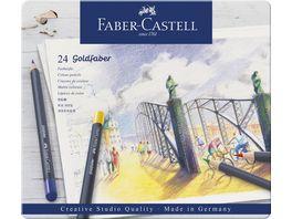 FABER CASTELL Farbstift Goldfaber 24 Metalletui
