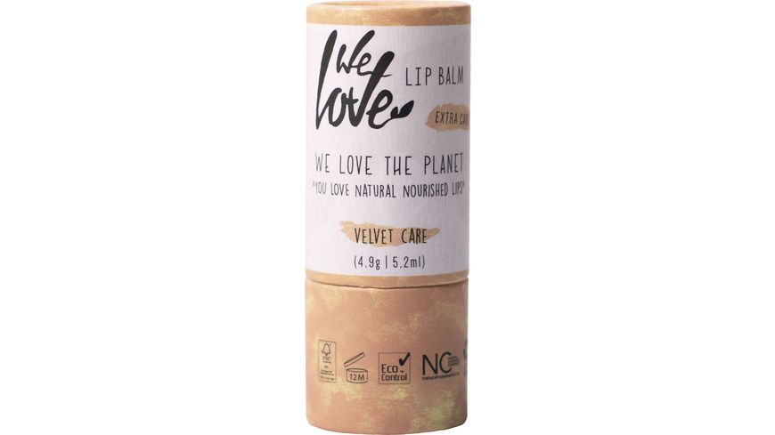 WE LOVE THE PLANET Natürliche Lippenpflege Velvet Care