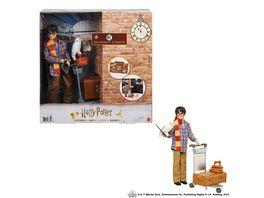 Harry Potter Gleis 9 3 4 Spielset mit Harry Potter Puppe Hedwig Figur