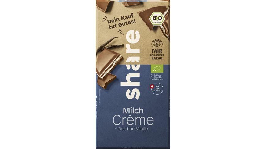 share Bio Schokolade Milchcreme