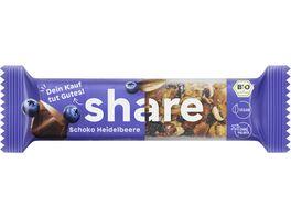 share Bio Nussriegel Schokolade Heidelbeere