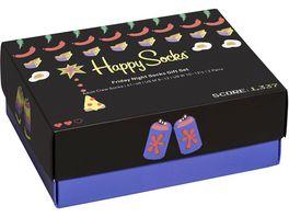 Happy Socks Unisex Socken Gift Set Friday Night 2er Pack
