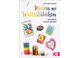 Malen mit Wattestaebchen Anleitungsbuch