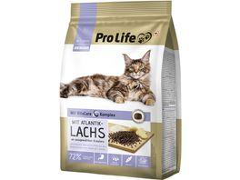 Pro Life Katze Trockenfutter mit Atlantiklachs an ausgewaehlten Kraeutern