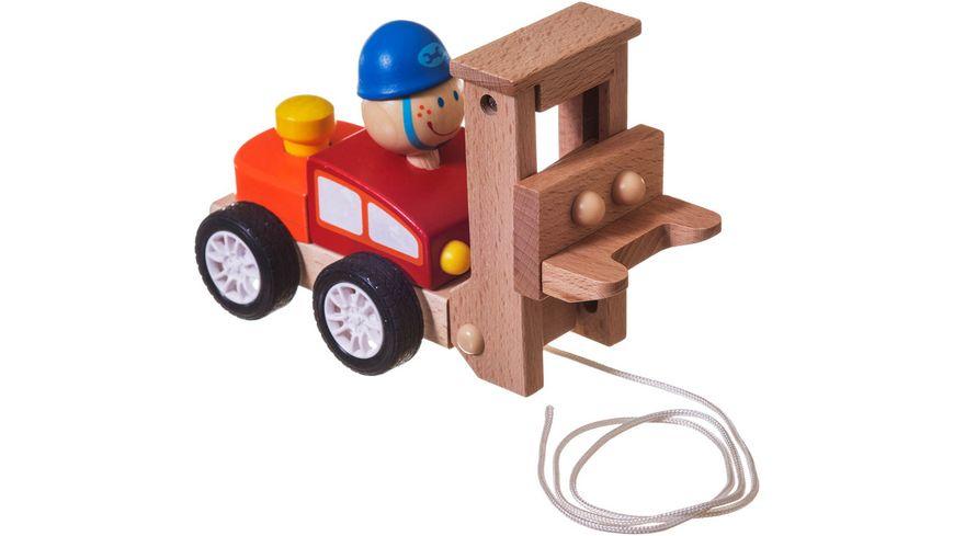 Bieco Holz Nachziehfahrzeug sortiert
