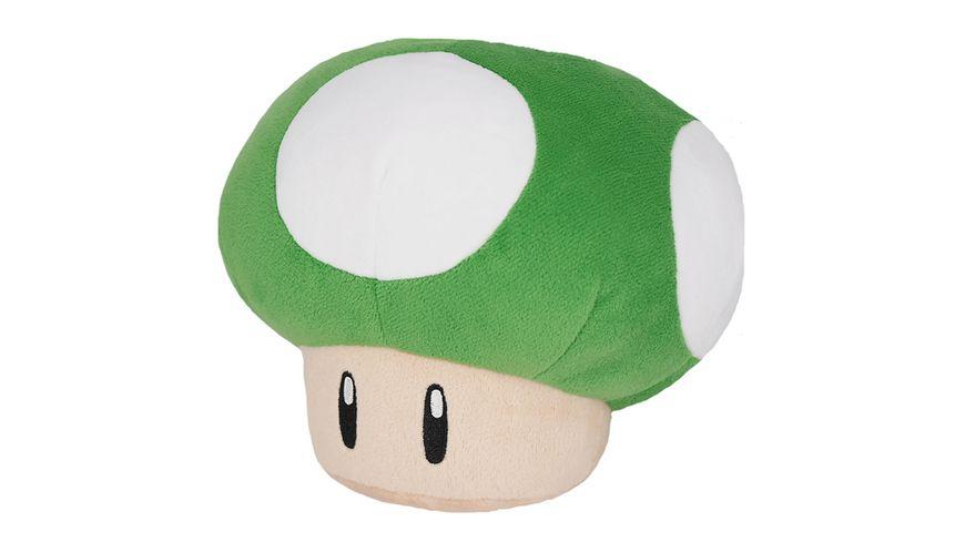Nintendo 1-UP Pilz Plüschfigur grün