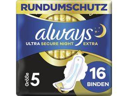 Always Ultra Secure Night Extra Binden Groesse 5 Mit Fluegeln