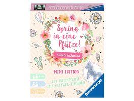 Ravensburger Spiel Spring in eine Pfuetze Mini Edition Spiel fuer Kinder ab 8 Jahren mit Glitzer Einhorn