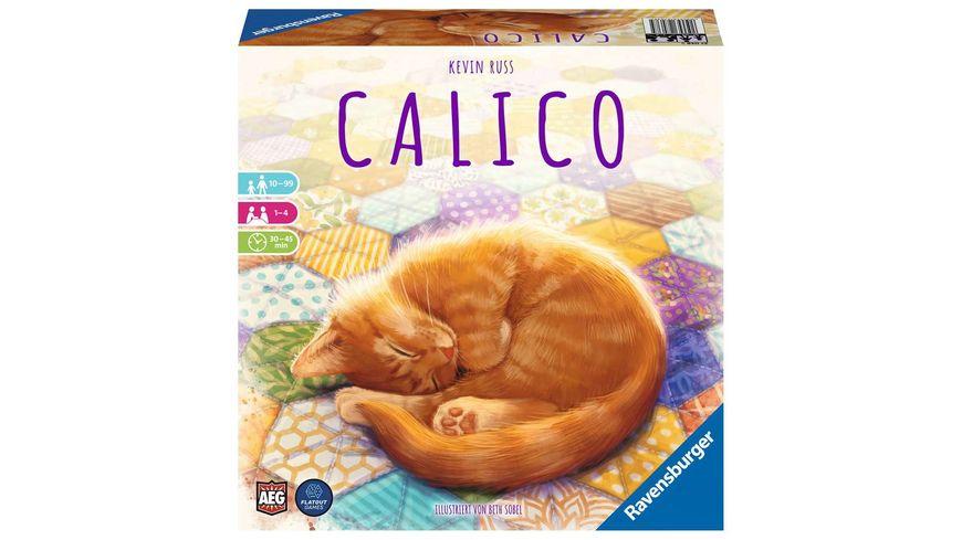 Ravensburger Spiel - Calico, Abwechslungsreiches Legespiel für Erwachsene, Kinder und Katzen Fans ab 10 Jahren, Ideal für Spieleabende für 1-4 Spieler