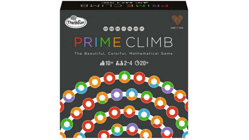ThinkFun - Prime Climb - Das farbenfrohe Mathespiel für Jungen und Mädchen ab 10 Jahren, auch für Erwachsene. Spielerisches Mathematiktraining für das Gehirn.