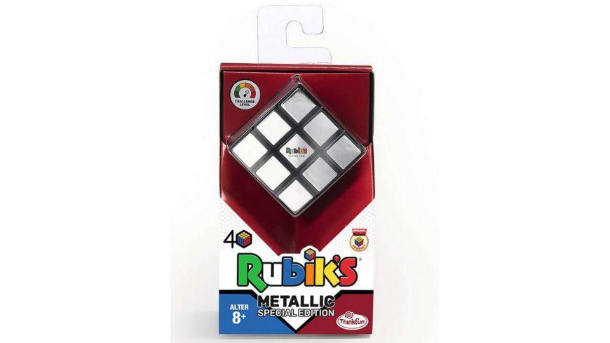 ThinkFun - Rubiks Cube Metallic - Der Klassiker, der original Rubik's Zauberwürfel mit Metallic-Effekt. Das Sammlerobjekt für jeden Rubiks-Fan ab 8 Jahren