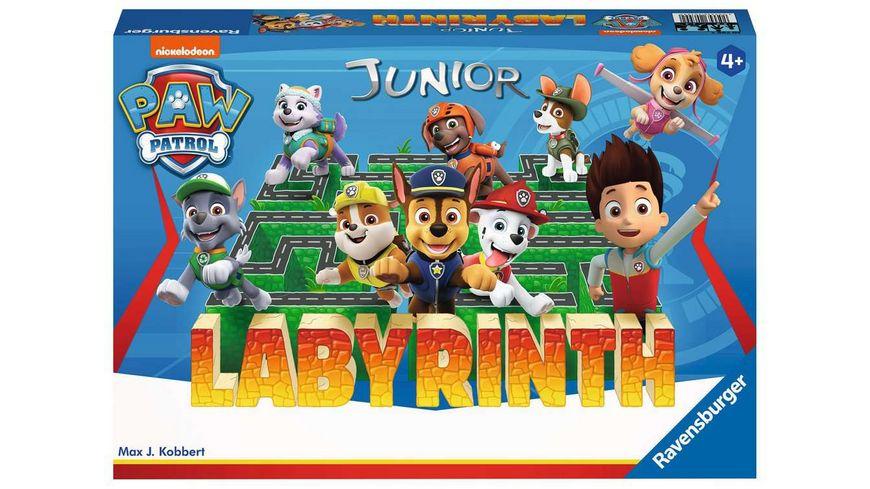 Ravensburger Spiel - Paw Patrol Junior Labyrinth, das bekannte Brettspiel von Ravensburger als Junior Version für Kinder ab 4 Jahren