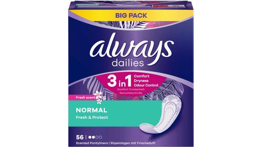 Always Slipeinlagen Fresh&Protect Normal Fresh BigPack 56ST