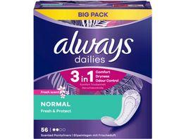 Always Slipeinlagen Fresh Protect Normal Fresh BigPack 56ST