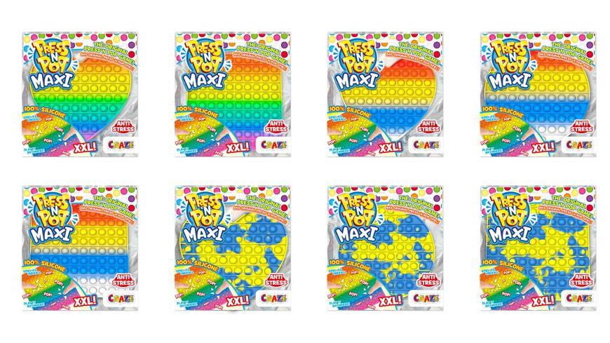CRAZE - PRESS'N POP Maxi sortiert